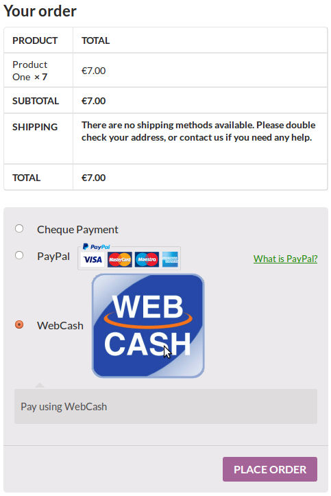 woocommerce webcash payment gateway checkout