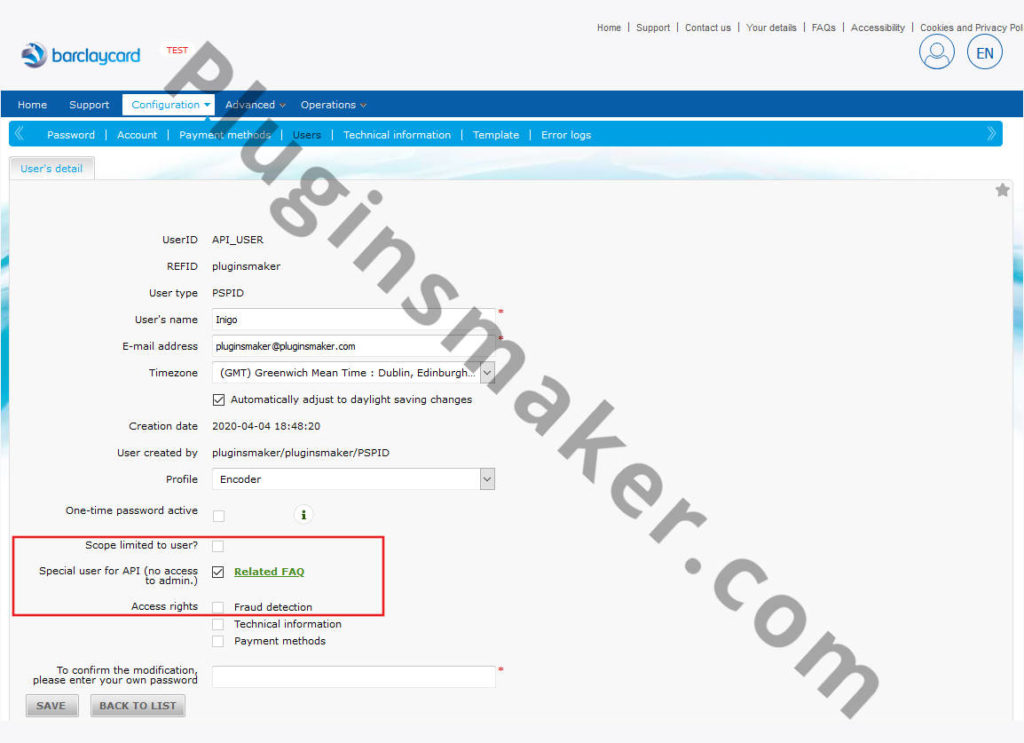 Barclaycard epdq payment woocommerce - activate DirectLink 002