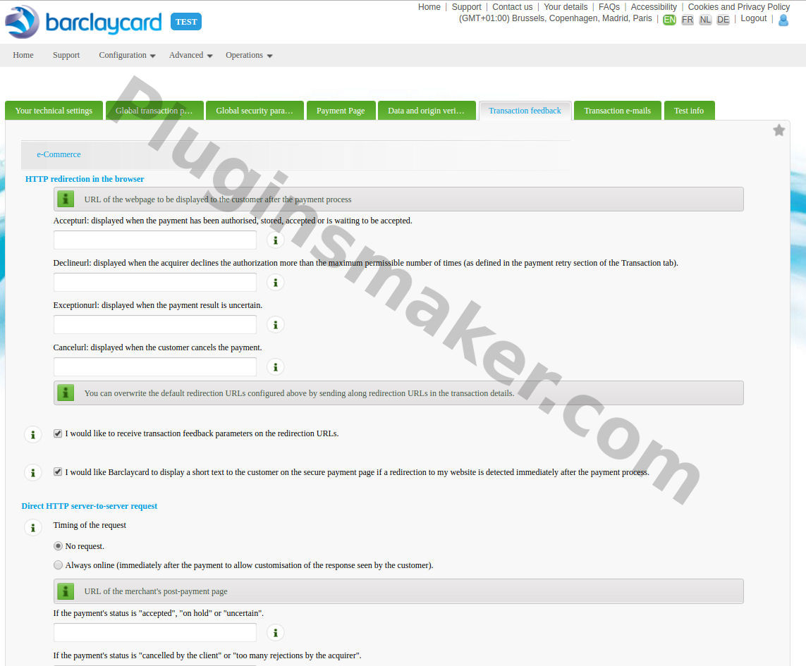barclaycard woocommerce payment gateway global Transaction feedback