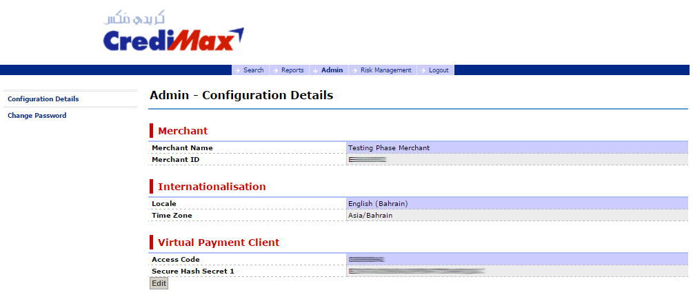 CrediMax settings, Woocommerce CrediMax payment gateway