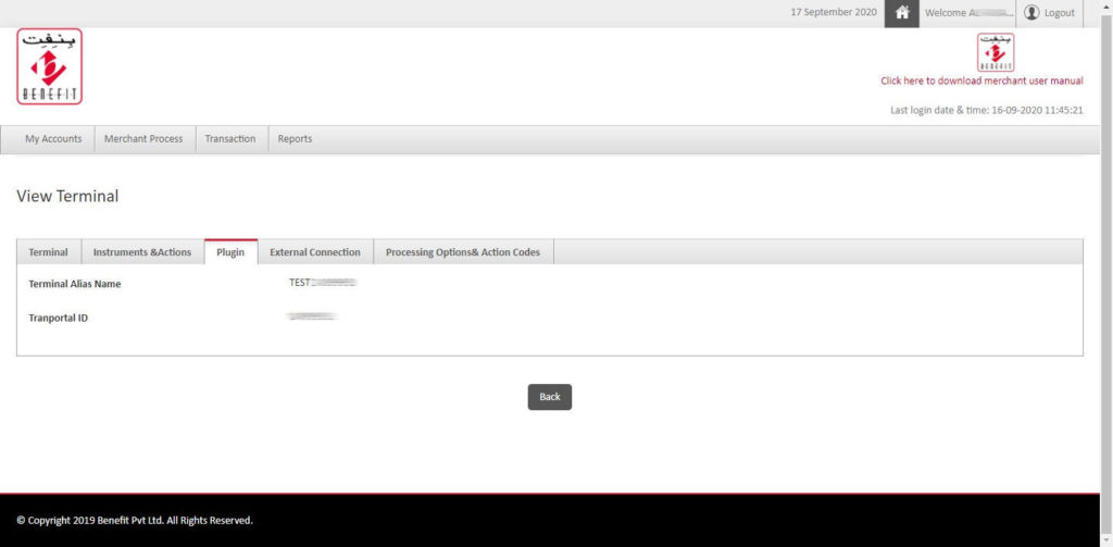 Benefit account 003 - Benefit Payment Gateway for WooCommerce